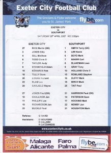 exeter_southport_teamsheet280407