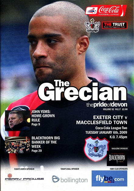 exeter_macclesfield_programme100209