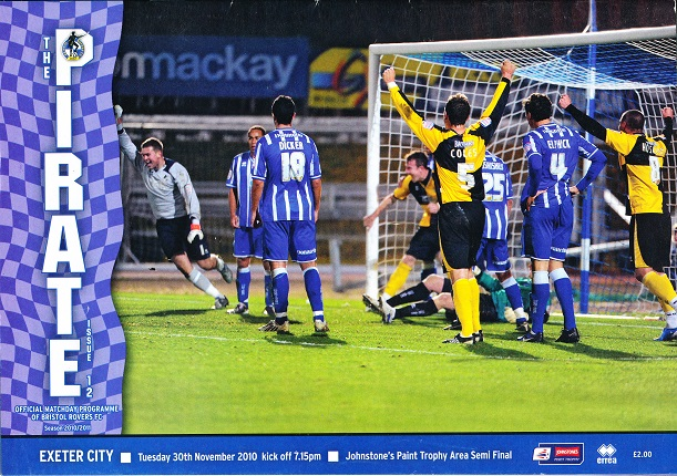 Bristol rovers_exeter_programme301110