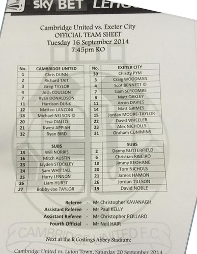 cambridge_exeter_teamsheet160914