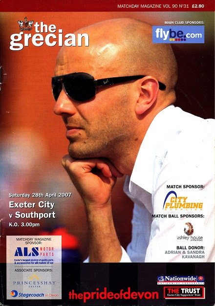 exeter_southport_programme280407
